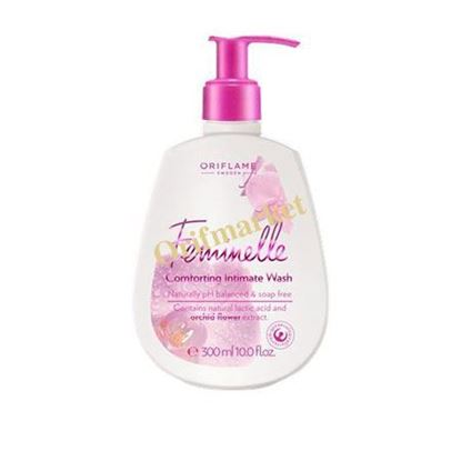تصویر ژل شستشوی بانوان با عصاره گل ارکیده Feminelle Comforting intimate wash