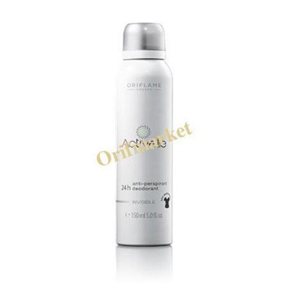 تصویر اسپری دئودورانت ضد تعریق ۲۴ ساعته برای لباس های سفید و مشکی Activelle Anti-perspirant 24H Deodorant Invisible Spray