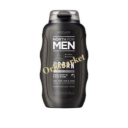 شامپو سر، بدن و صورت نورث North For men Urban Hair, Body & Face Wash
