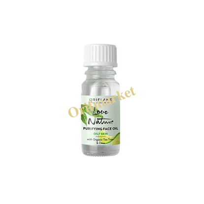 تصویر محلول ضدجوش روغن درخت چای و لیمو 🌿Love Nature Purifying Face Oil with Organic Tea Tree & Lime