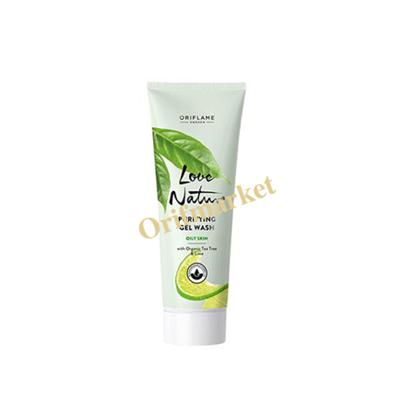 تصویر ژل پاک کننده صورت درخت چای و لیمو 🌿Love Nature Purifying Gel Wash With Organic Tea Tree & Lime